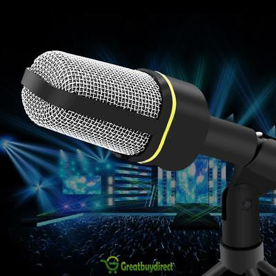 Professional 3.5mm Podcast Studio Microphone Mic With Stand for Skype Desktop GB