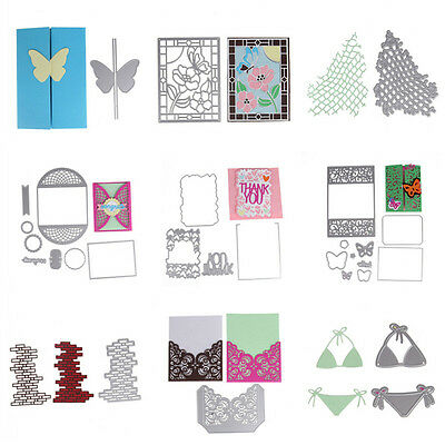 Silver Metal Cutting Dies Stencil Scrapbooking Embossing Card Craft DIY