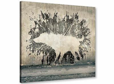 Banksy Wet Dog Graffiti Print Canvas Modern 79cm Square - 1s292l