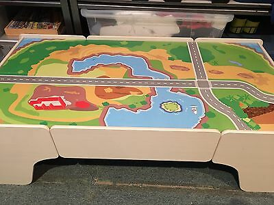 Kids Wooden Toy Train Table Only - No Drawers