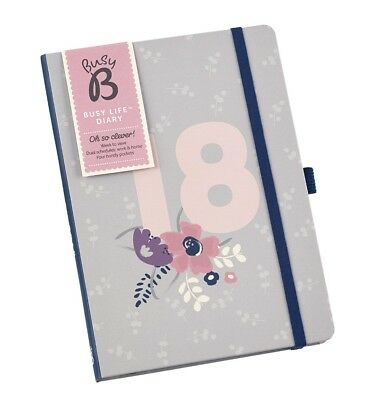 Busy B Floral 2018 Busy Life A5 Diary BRAND NEW & SEALED