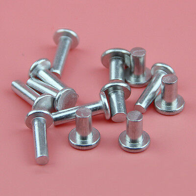 100Pcs M2 M2.5 M3 3-30mm Flat head Aluminum Rivet Solid Rivets 2/2.5/3mm DIA