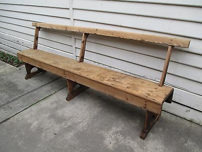 Vintage church pew timber bench seat.
