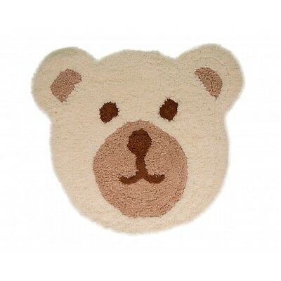 Baby Rugs Nursery Teddy Bear Microfibre Natural Polyester Mats/Rugs - 75x80 cms