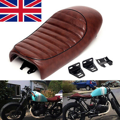 Universal Motorcycle Cafe Racer Seat Flat Brat Hump Saddle For Kawasaki Suzuki B