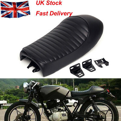 Universal Motorcycles Cafe Racer Seat Flat Brat Hump Saddle For Suzuki Kawasaki