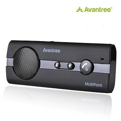 Avantree Multi-point Function Bluetooth Hands Free Car Kit - Black