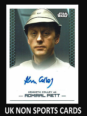 Star Wars Perspectives UK EDITION Autograph Card Kenneth Colley as Admiral Piett