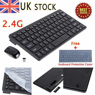 Mini Thin 2.4G Wireless Keyboard and Optical Mouse Combo Kit for Desktop PC GB