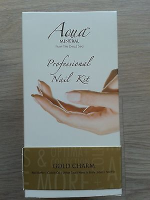 AQUA MINERAL from the Dead Sea Professional Nail Kit Nagelpflegeset Gold Charm