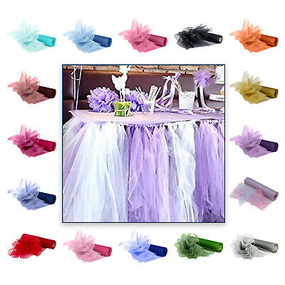 29cm x 25m Organza Fabric Roll Chair Bow Sash Wedding Birthday Banquet Decor