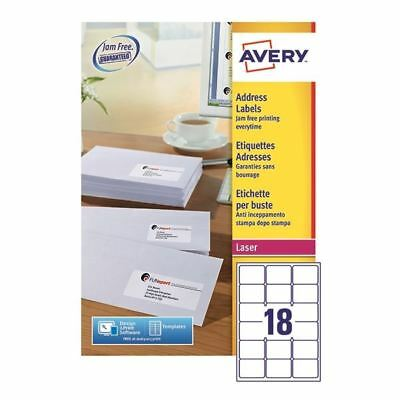 very White Quickpeel Address Labels 63x46mm (Pack of 4500) [AVL7161E]
