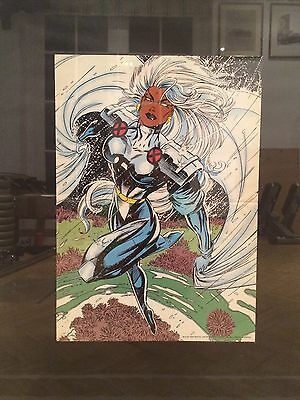 Comic Poster 1994 X-Men #27 DoubleSided Retro Art by Jim Lee featuring 'Storm'.