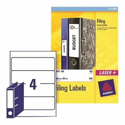 Avery Lever Arch Filing Labels 200x60mm (Pack of 100) L7171-25 [AVL7171]