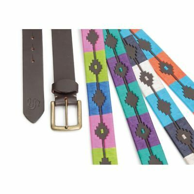 Shires Ladies Equestrian Horse Riding Leather Multi Colour Moreno Polo Belt