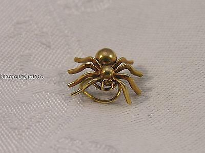 gold tone (brass?) twist-on spiral spider pin tack hair pin