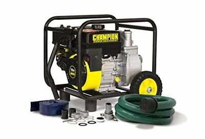 New 2 Inch Semi-Trash Water Transfer Pump with Hose & Wheel Kit Power Equipment
