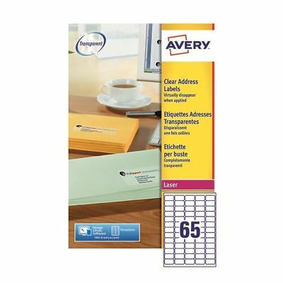 Avery Clear Mini Laser Labels 38x21mm (Pack of 1625) L7551-25 [AVL7551]