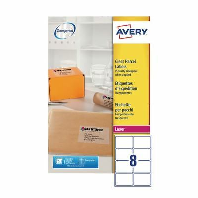 Avery Clear Laser Label 99.1 x 67.7mm 8 Per Sheet Pack of 200 [AVL7565S]