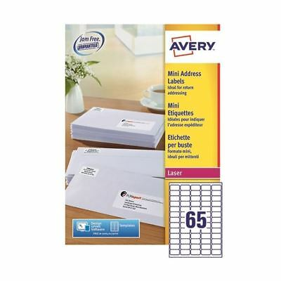 Avery Laser Labels 38.1x21.2 (Pack of 100) L7651H [AVL7651H]