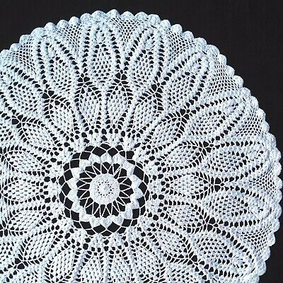 "Extra Large Handmade White Vintage Crochet Doilie Doily Doiley 20"" 22"" 24"" 26"""
