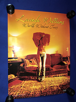 vintage 2002 Lucinda Williams World Without Tears LP PROMO POSTER 18x24in NR MNT
