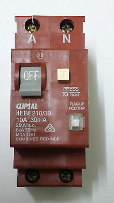 Clipsal Combo RCD/MCB Double Pole Circuit Breaker / Safety Switch 4EBE210/30