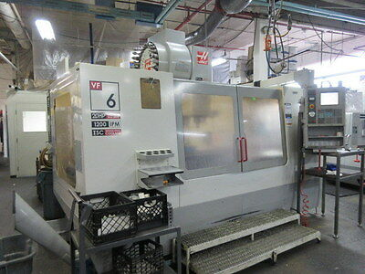 Haas VF-6D/40 CNC Machining Center w/ 4TH axis Pre-Wire, Coolant Thru Spindle