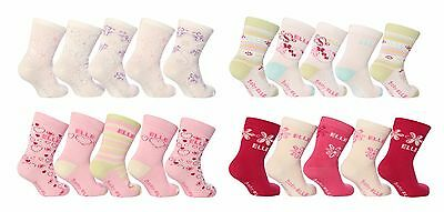 Baby Elle - 5 Pack Cute Patterned Pink White Cotton Ankle Socks for Little Girls