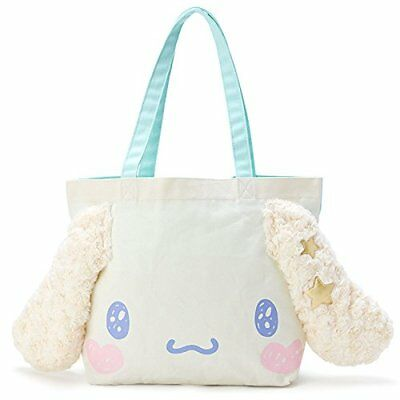 Cinnamoroll Face-Shaped Tote Bag Kira Fuwa New with Tracking from Japan