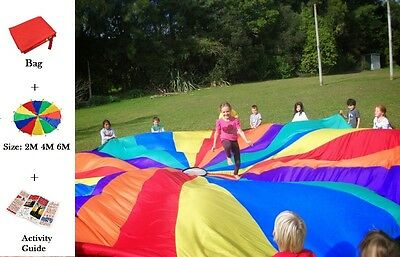 Traditional Rainbow Parachute Team Work Fun Physical Activity Guide Included UK