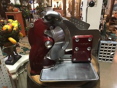 Antique U.S. Slicing Mach. Co. Hand Crank Slicer Berkel, Lever action