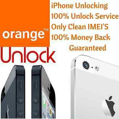 ORANGE/EE/T Mobile Network UK All iPhone Express Official Factory Unlock Service