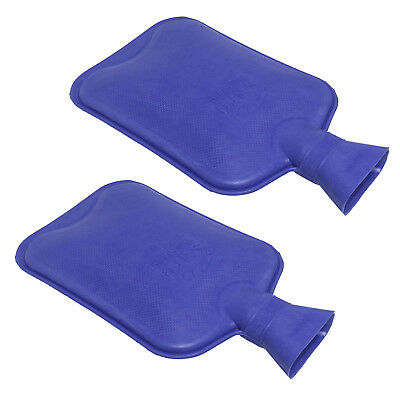 Sure Thermal Rubber Plain Hot Water Bottle Twin Pack, 2 x Blue HWB Bottles