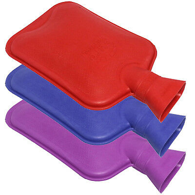 Sure Thermal Plain Office Home Work Hot Water Bottle Triple Pack Red Blue Purple
