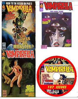 Vampirella 107 issues comics Vampire e-comics  on DVD