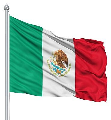 Mexico Flag 3x5 Feet New Mexican Flag Bandera Indoor Outdoor Metal Grommets