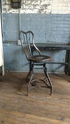 Toledo Steel Chair UHL Early Rare Industrial Desk Machinist Factory Office Decor