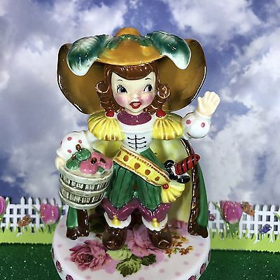 Vtg Napco Boy Peter Piper W Peck Of Pickled Peppers Nursery Rhyme Figurine Japan