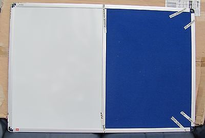 Nobo Combination Board Magnetic Dry Wipe and Blue Felt 900 x 600mm  1902257 NEW