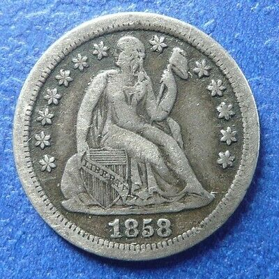 Rare!!! 1858-S Dime!!! Only 60,000 Made!!!