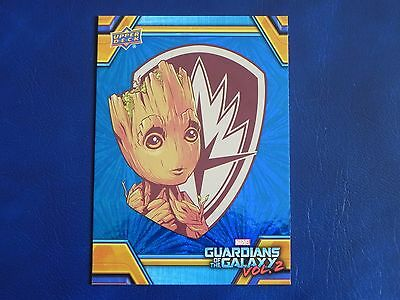 2017 UD Guardians of The Galaxy Vol. 2 BLUE FOIL RB-35 Groot