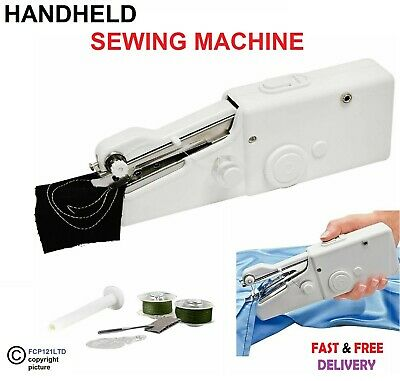 Portable Mini Electric Handheld Sewing Machine Battery/Mains Powered Home Travel
