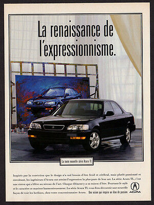 1995 ACURA TL Original Print AD - Black car photo, paint, french canadian
