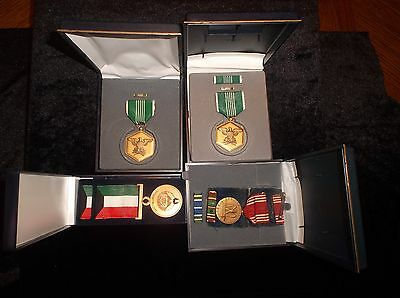 Lot Of 4 Collectible Vintage Military Armed Forces Service Awards Ribbons 1980's