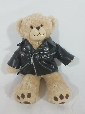 Harley Davidson Build a Bear Leather Jacket Zippered