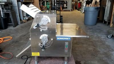 Somerset CDR-2100 Dough Roller w/ Synthetic, non-stick rollers Stainless, 115V
