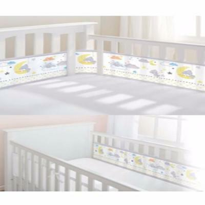 Breathable Baby Tatty Teddy 2 Sided/ 4 Sided Cot Liner