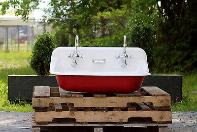 "36"" Antique Inspired Kohler Brockway Farm Sink Cast Iron Porcelain Trough Sink"
