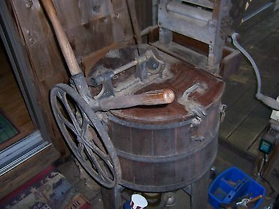 primitive wooden washing machine